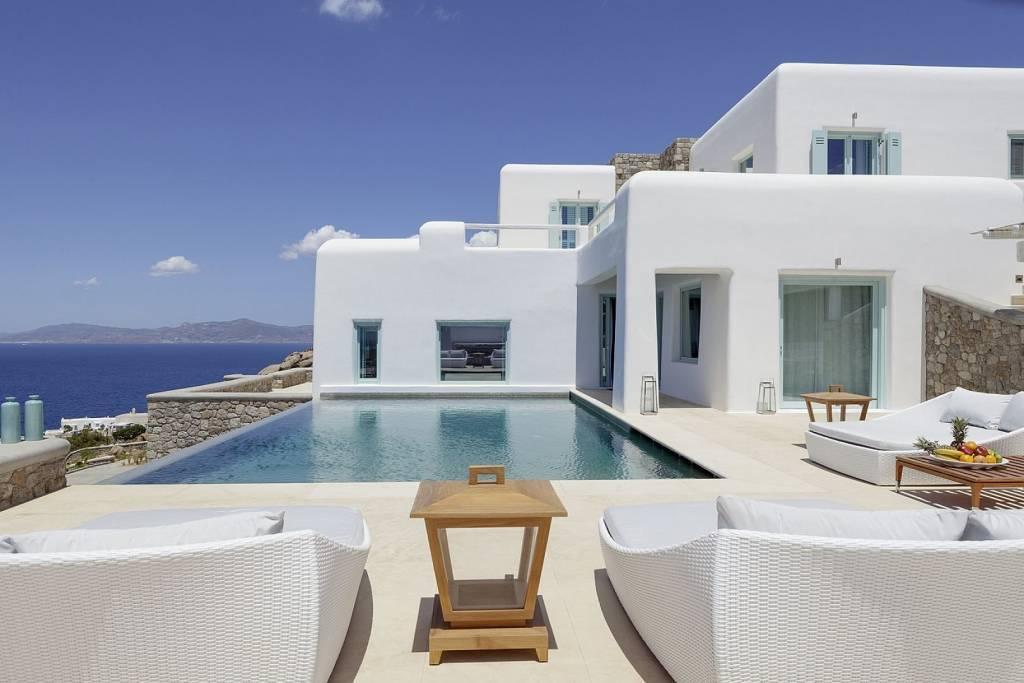 Mykonos - Pouli - Location de vacances - Maison - 18 personnes - 9 chambres - 9 salles de bains - Piscine.